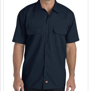 Dickies flex fit short sleeve button down